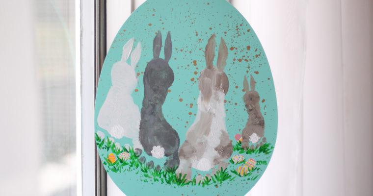 Easter Craft Decor: Footprint Bunnies