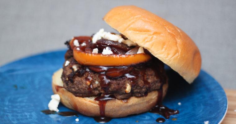 Gourmet Apple Bison Jeans Burger Recipe