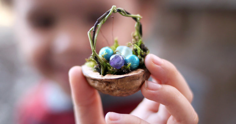 Mini Nature Easter Basket Spring Craft