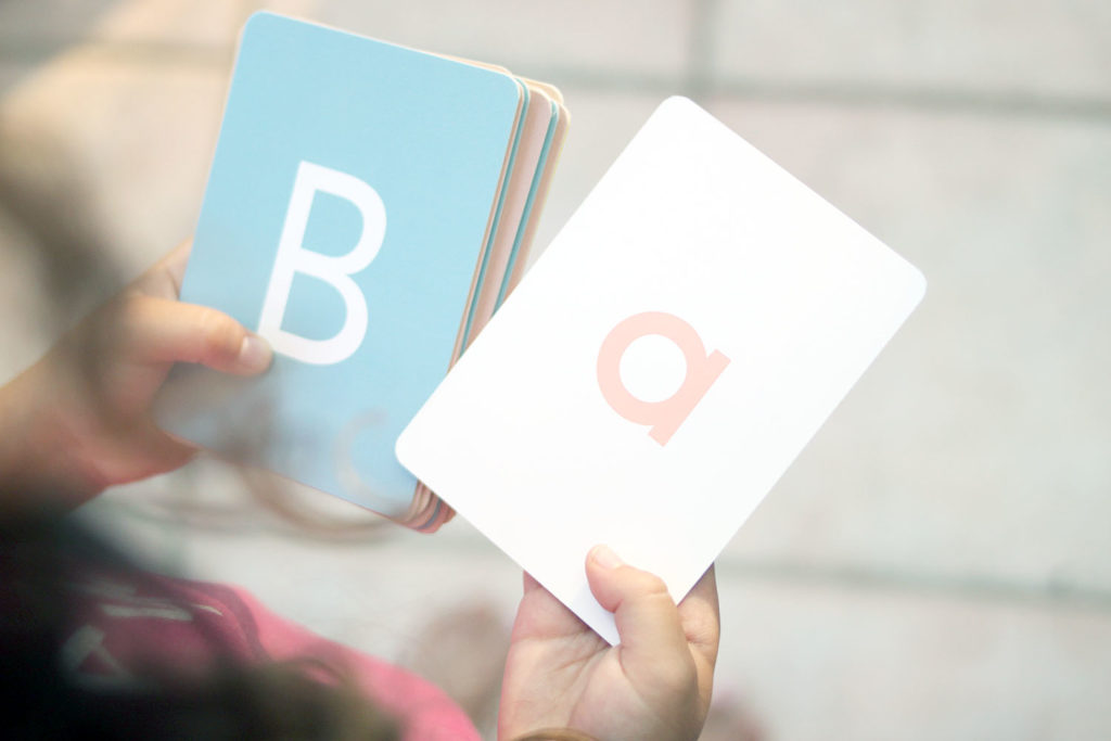alphabet letter flash cards with upper and lower case