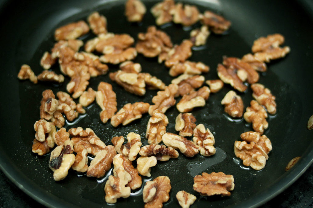 Toasting Walnuts in a Skillet