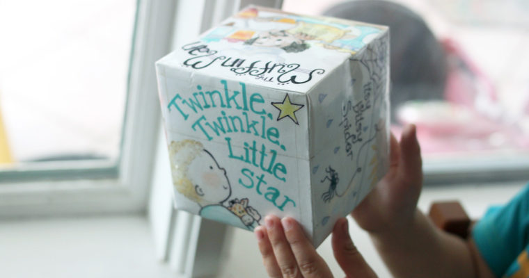Nursery Rhyme Cube Game for Pre-K and Kindergarten