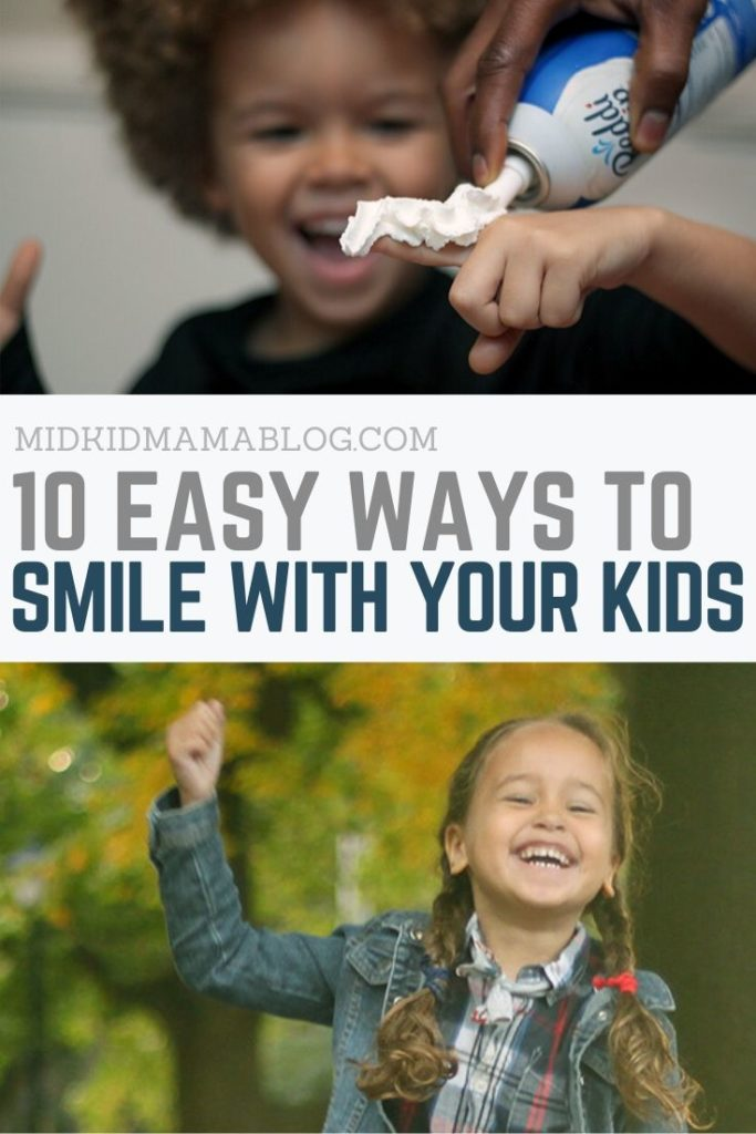 10 Easy Ways to Smile WIth Your Kids Without Breaking the Bank - check out these simple ideas for free or cheap ways to smile with your family - MidKid Mama Blog