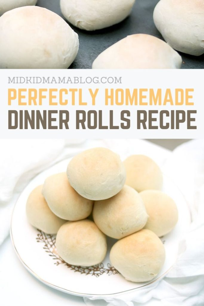 Pin for making delicious foolproof dinner rolls from scratch