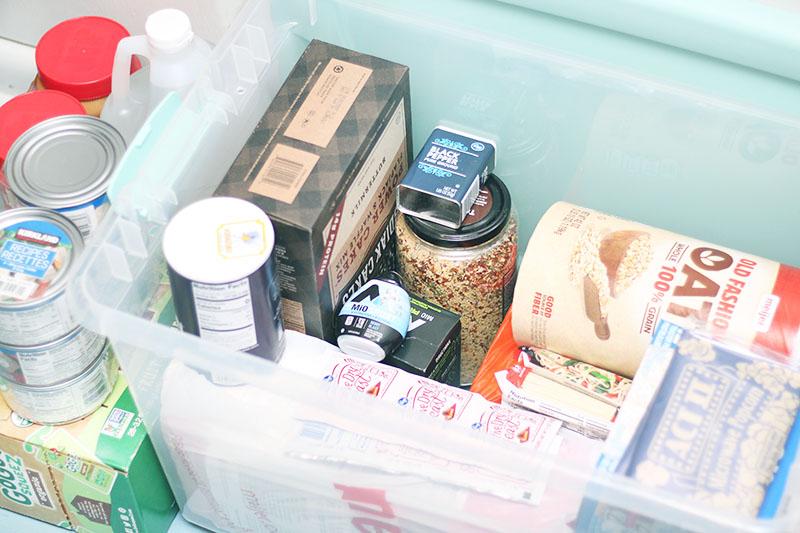 pantry foods to keep in storage in case of emergency