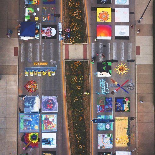 Chalk Walk overhead from 2019