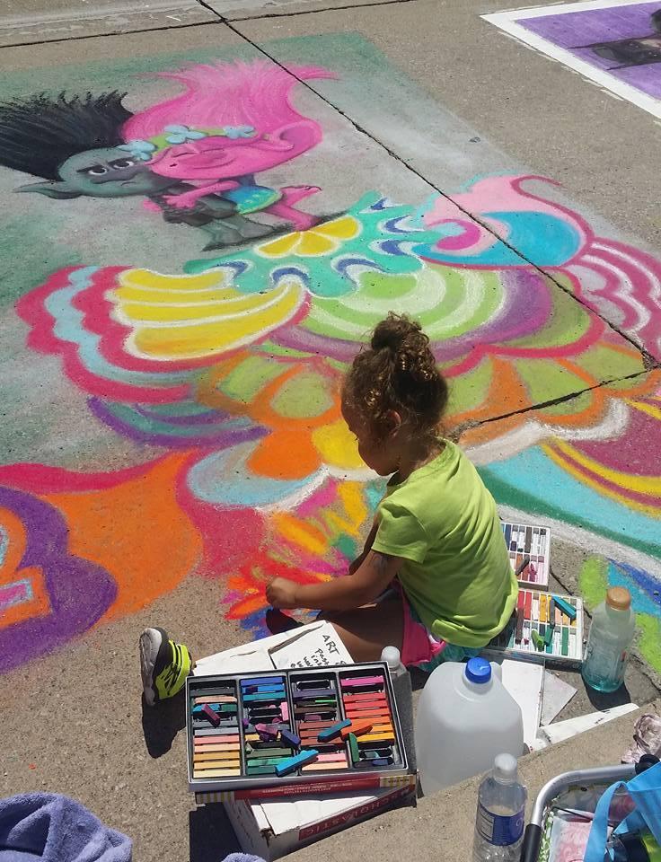 Little chalk walk helper
