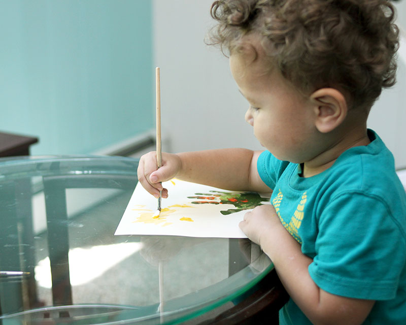 Toddler painting craft for preschool and younger