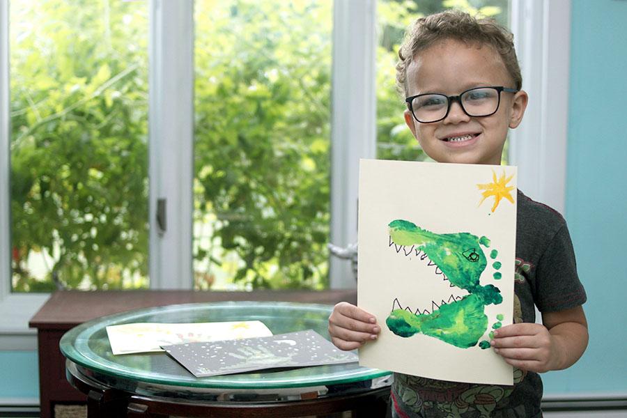 Fun animal footprint painting activities for kids